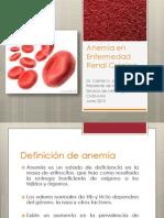Anemia en Enfermedad Renal Crónica
