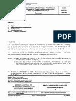 Nbr 7261 Pb 882 - Elementos de Fixacao Roscados - Tolerancias Dimensionais de Forma Posicao E Rugosidade Para Graus de Produtos a B E C