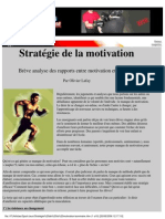 Sport Performance Psychologie Lafay Strategie de La Motivation