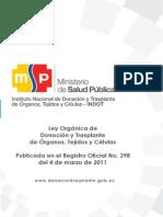 Ley y Reglamento a La Ley Organica de Donacion y Trasplantes