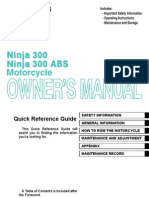2013 Kawasaki Ninja 300 Owners Manual