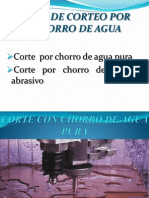 Corte Por Chorro de Agua Parte II