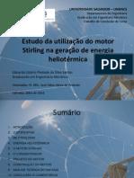 Estudo da utilização do motor Stirling na geração de energia heliotérmica