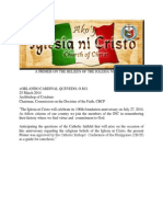 A Primer on the Beliefs of the Iglesia Ni Kristo