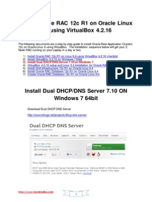 Install Dual DHCP DNS Server 7 10 on Windows 7 64bit | Oracle