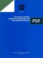 Juknis Jabatan Fungsional Peneliti Dan Angka Kreditnya