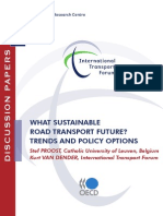 Sustainable Road Transport, Future, Trends, And Policy Options
