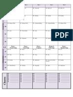 PNEU/PUS Ambleside Online Weekly Schedule