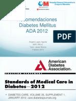 Recomendaciones Ada Dm 2012