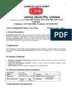 Anti-corrosion Heavy Wax Film