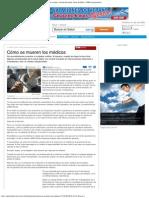 Cómo Se Mueren Los Médicos - Noticias