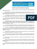july20.2014 b.docFresh graduates to get free education in farming