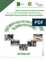 Documento Rector DEFVM. 2009-2010.