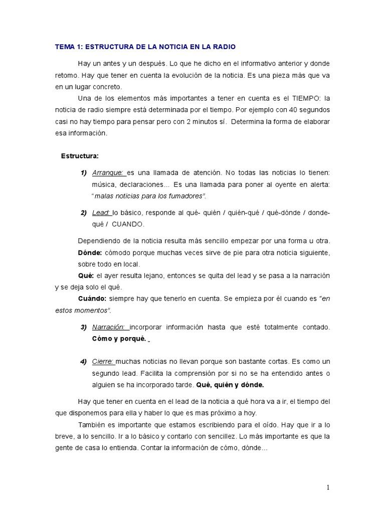 Redaccion En Radio Y Television