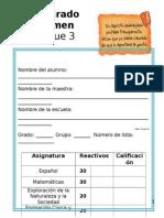 1er Grado - Examen Bimestral Bloque 3 (2013-2014)