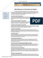 3.1 the 10 Best Reasons to Use Classroom Games