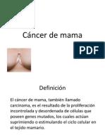 Cancer de Mama Ginecologia