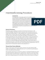 Polyethylene Joining Procedure