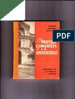 El Partido Comunista y La Universidad. Parte 2.