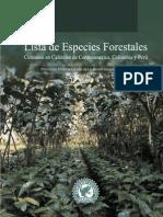 Lista de Especies Forestales Coffe Guide Spa Latinamerica