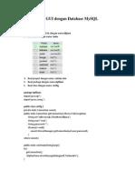 Java GUI Dengan Database MySQL