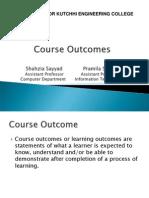 Course Outcomes Presentation