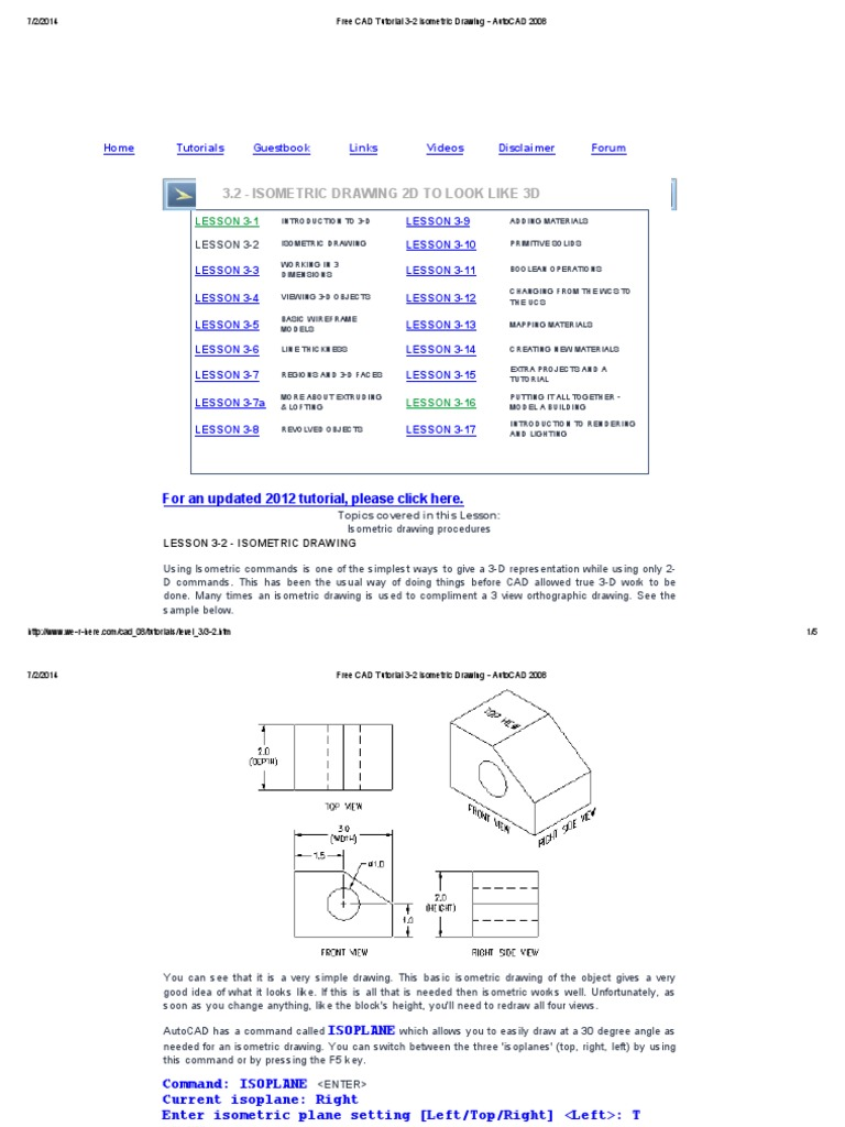 Free cad tutorial 3 2 isometric drawing autocad 2008 3 d free cad tutorial 3 2 isometric drawing autocad 2008 3 d computer graphics computer aided design baditri Images