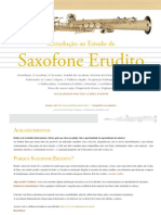 SAXOFONE - Introdução Ao Estudo de Saxofone Erudito (Marcos Oliveira)