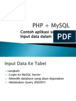 contoh sederhana PHP + MySQL(insert)