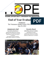 HOPE End of Year Evaluation 2013-2014(EOYE)