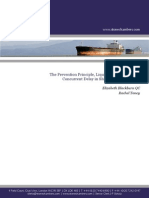 Prevention Principle Liquidated Damages and Concurrent Delay in Shipbuilding Contracts Elb Rt April 2013