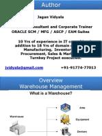 Oracle WMS Setup