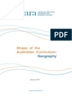 Shape of the Australian Curriculum Geography