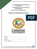 Metrology Lab Mannual 15-5-14