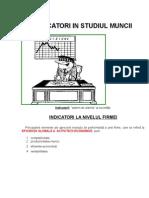 Indicatori in Studiul Muncii