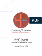 Journal of the 167th Convention of the Episcopal Diocese of Missouri