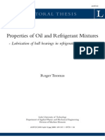 Refrigerant and Oil Mixture Properities