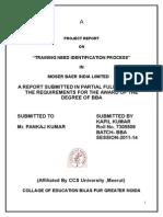 "Training Need Identification Process"" Moser Bare"