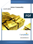 Daily Commodity Market Trends & Report 21-07-2014