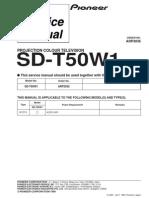 Pioneer Sd t50w1 Service Manual