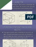 1.- LA RECTA Geometria Descriptiva