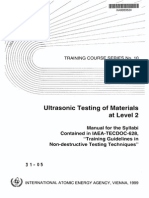 Ultrasonic Testing of Material Level 2 IAEA