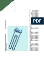 Aeg Electrolux Zanussi Heater Cross-refs Mosogepek Futobetet Kompatibilitasi Lista