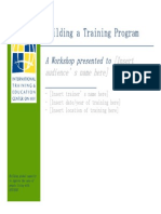 BuildingTraining Program