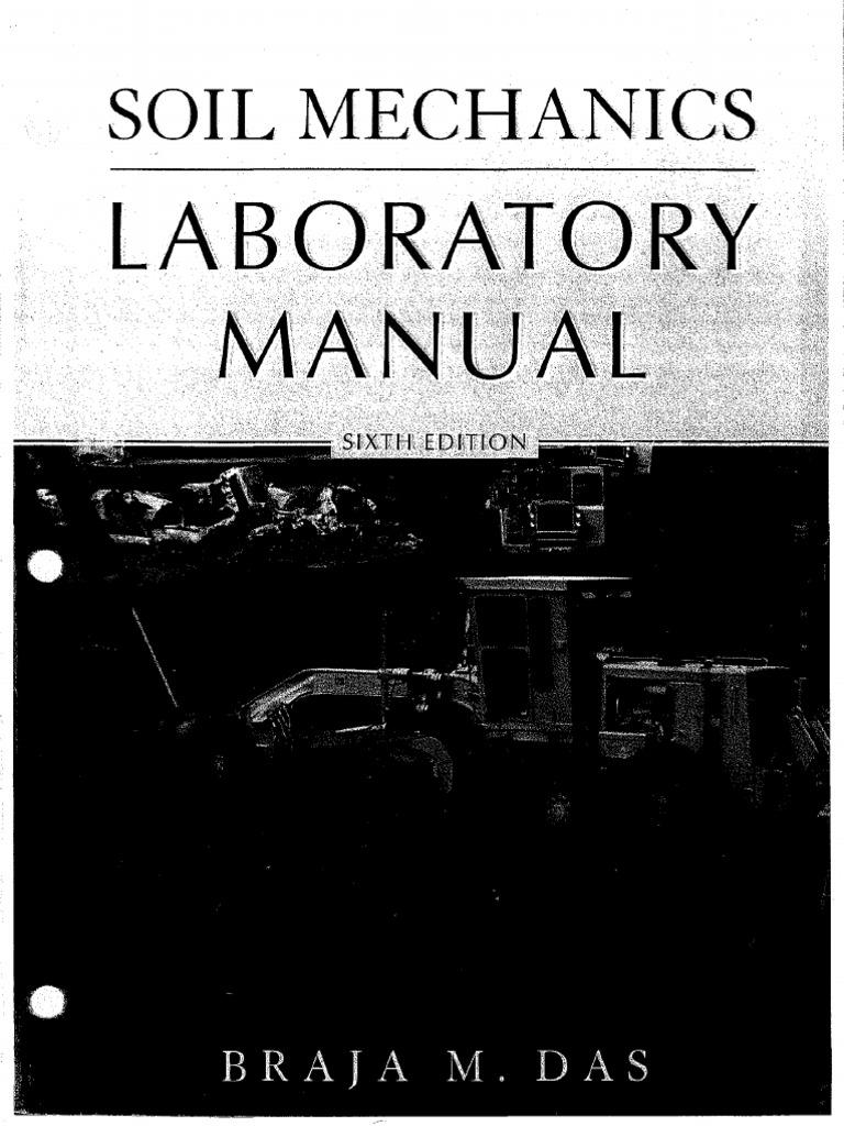 Soil Mechanics Laboratory Manual Braja M Das Pdf