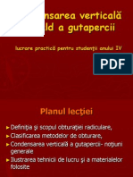 Condensarea Verticala a Gutapercii