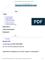 Revista USP - Organismos Transgênicos No Brasil_ Regular Ou Desregular