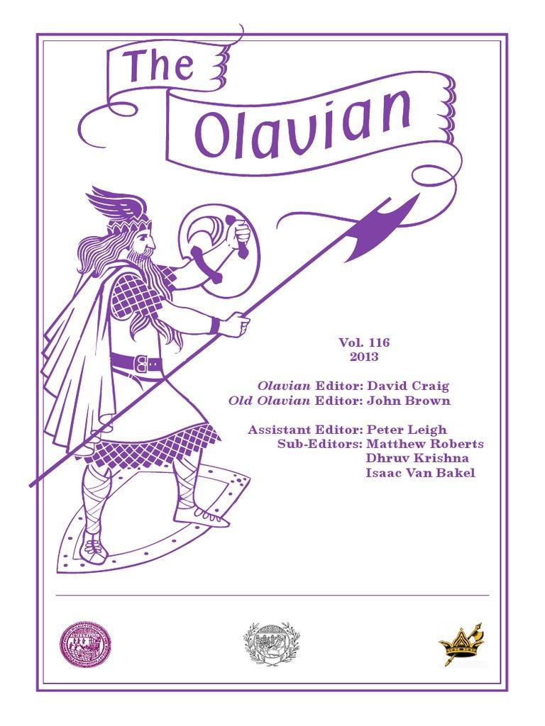 17a6014b6 The Olavian Magazine 2013