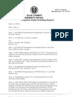 Ellis County Sheriff's Incidents, Nov. 30, 2009