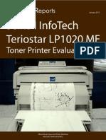 705802 Seiko Infotech Teriostar LP1020MF Toner Printer